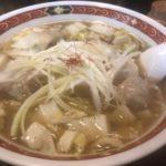 わんたんめんの店しお福【新橋駅】泥酔後の〆に心地よいスープを最高の調味料でシバく!